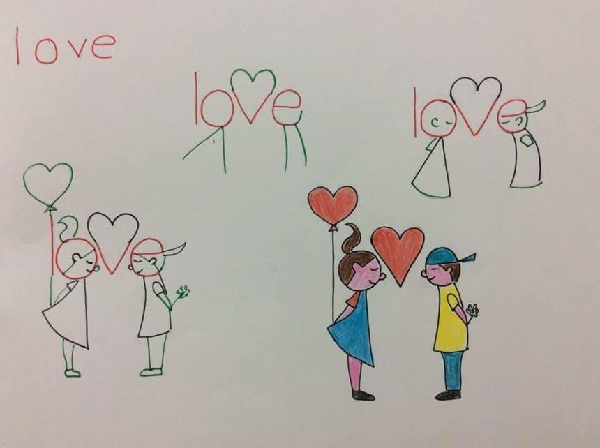 A Beginner's Guide To Word Art : Learn To Draw Easy Figures From Words With Love