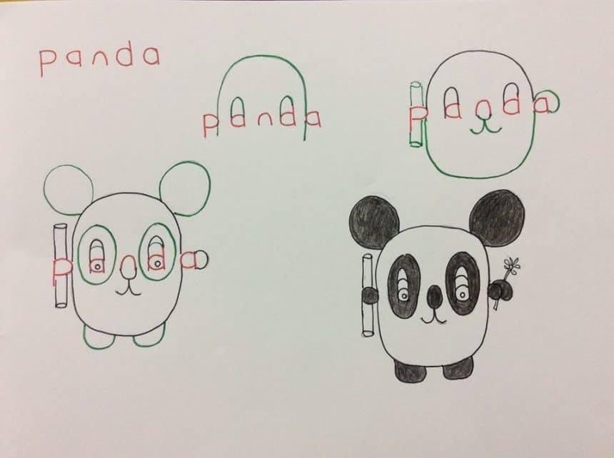 Panda Word Art
