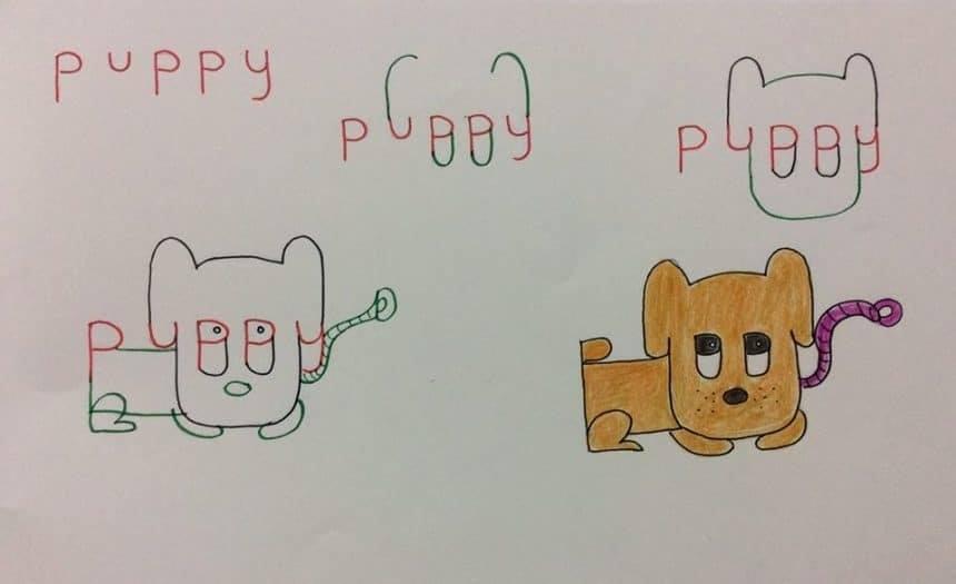 Cute Puppy Word Art