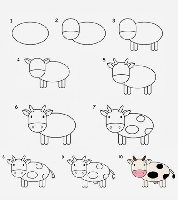 Step by Step Cow