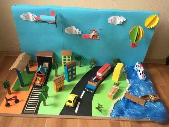 Transportation Crafts For Kids And Preschoolers Types of transportation illustration for kids