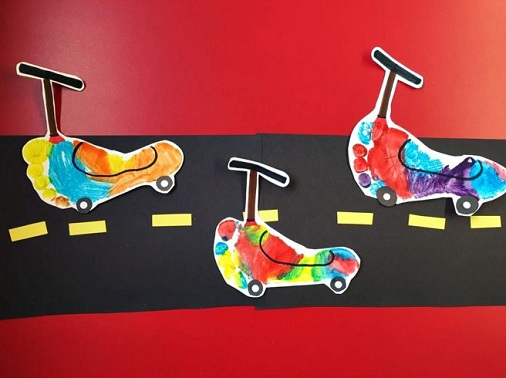 Transportation Crafts For Kids And Preschoolers Kick scooter for kids