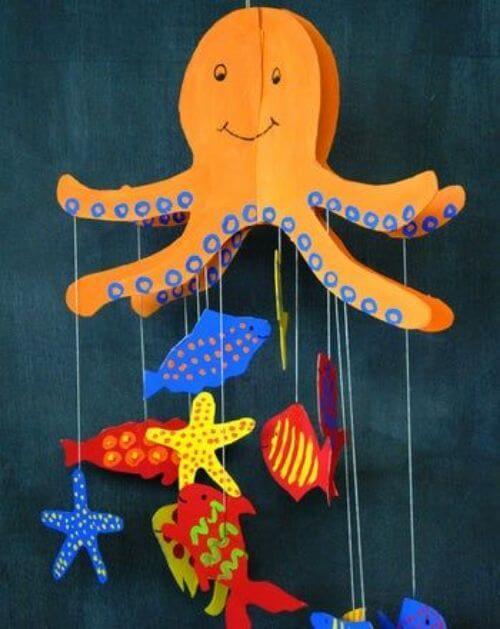sea-creatures - Octopus Craft Ideas for Kids