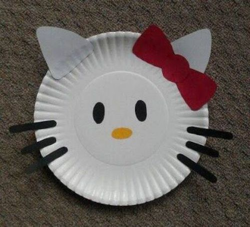 Best Out Of Waste- DIY Paper Plate Crafts For Kids Paper Plate Kitty