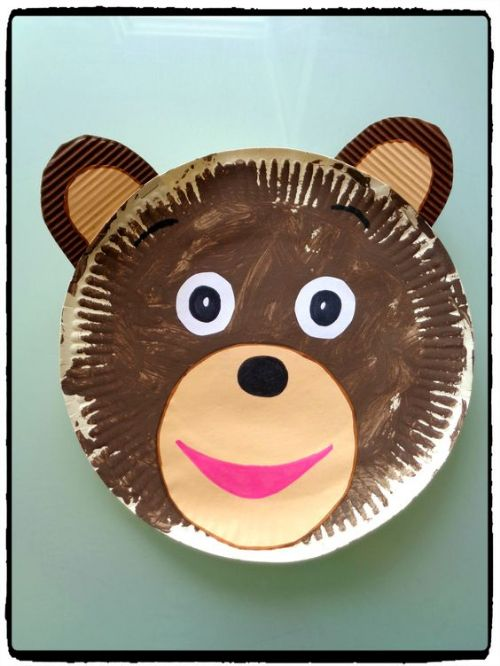 Best Out Of Waste- DIY Paper Plate Crafts For Kids Easy Bear Craft