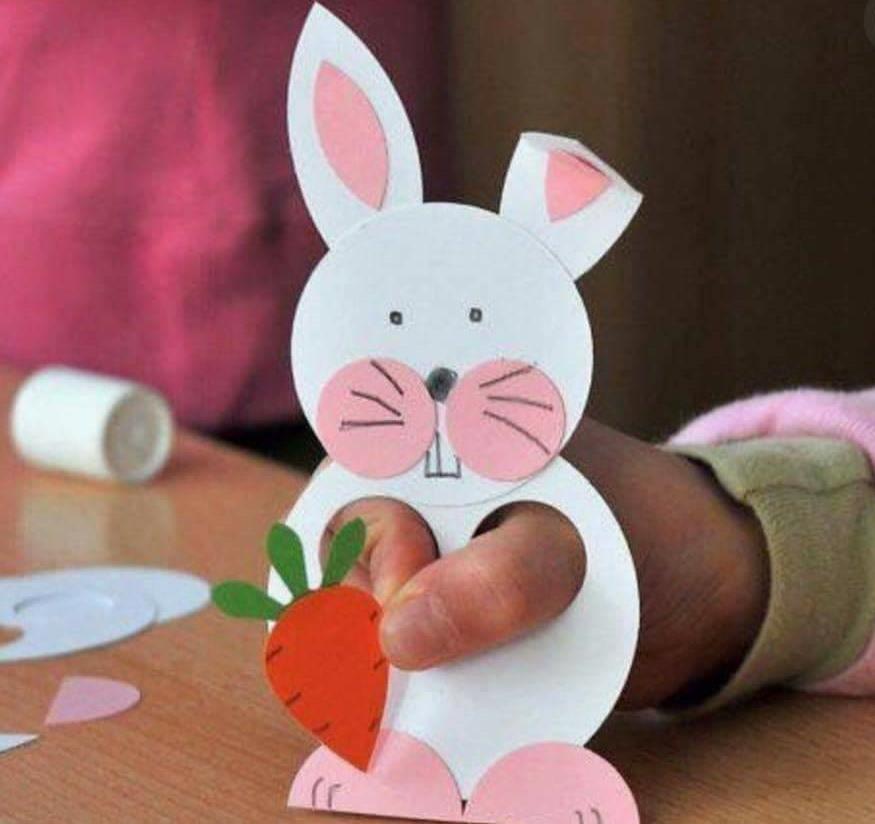 Rabbit Craft Ideas for Kids A BUNNY PUPPET