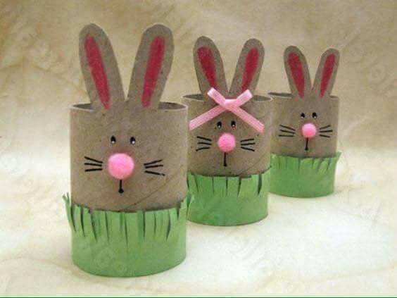 Rabbit Craft Ideas for Kids TISSUE ROLL RABBITS