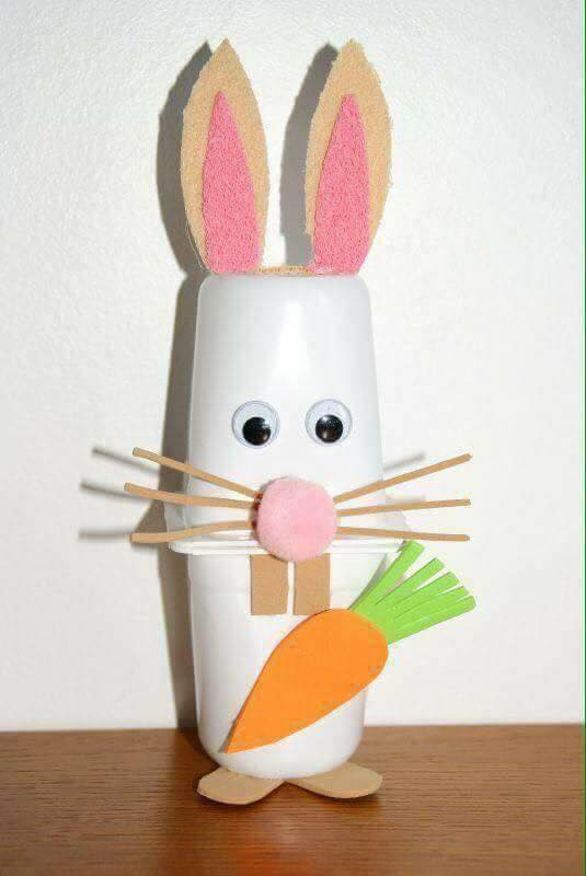 Rabbit Craft Ideas for Kids CUP BUNNY