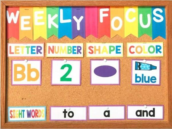 Weekly focus - Rainbow Bulletin Board Ideas for Classroom Decoration