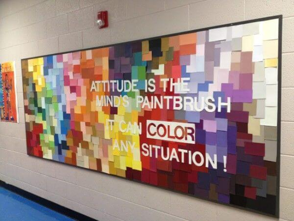 Attitude is the mind's paintbrush