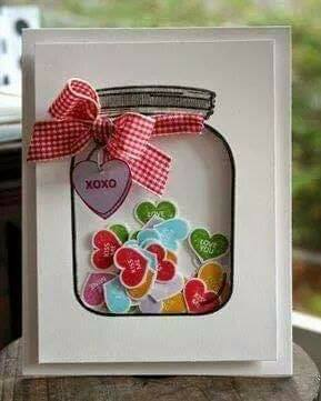 Interesting and Easy Paper Card Ideas for your loved ones Jar Containing Messages