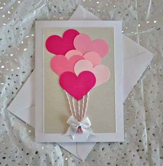 Interesting and Easy Paper Card Ideas for your loved ones The Heart-shaped Balloons