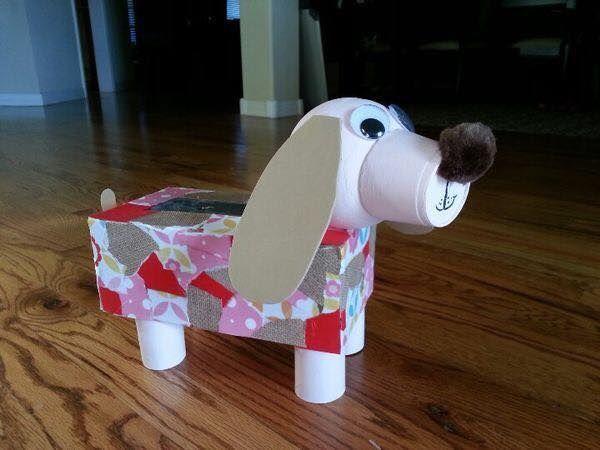 Creative Cardboard Box Crafts For Kids Paper Puppy
