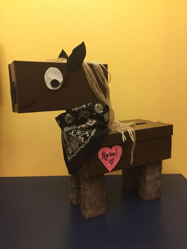 Creative Cardboard Box Crafts For Kids Another Pretty Black Pony