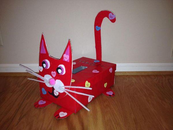 Creative Cardboard Box Crafts For Kids Meow