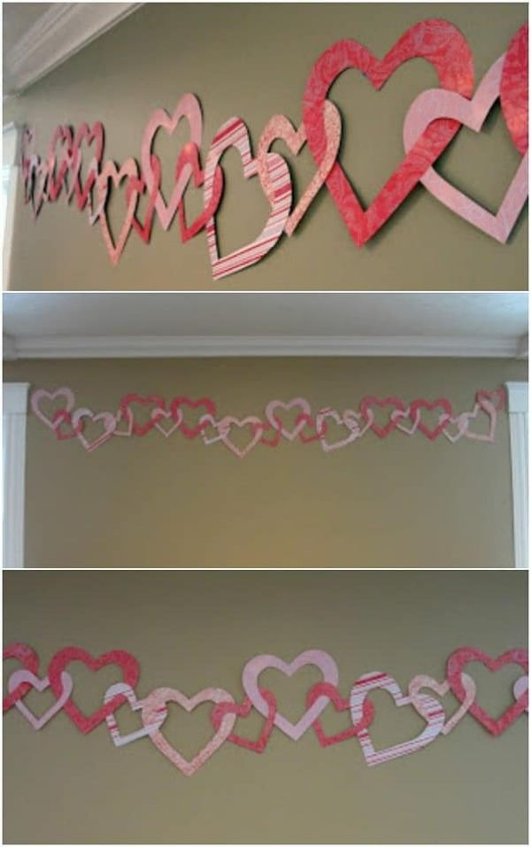Valentine hearts wall decor
