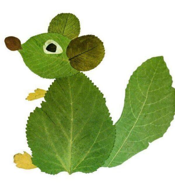 Leaf Mice - Easiest Fall Leaf Craft Ideas for kids