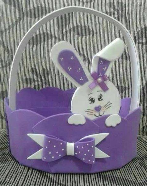 Foam Craft Ideas for Kids A rabbit basket of foam
