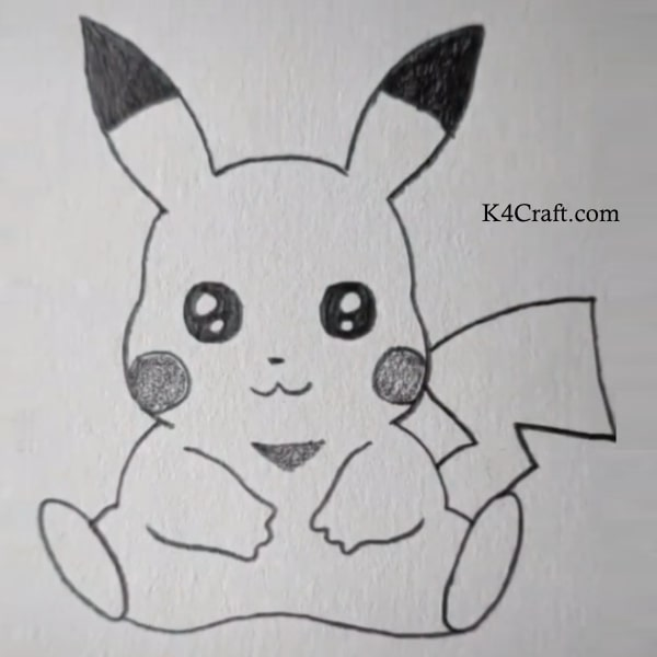 Pikachu drawing for kids