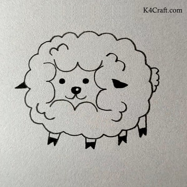 Fluffy Stuff drawing for kids - easy and simple