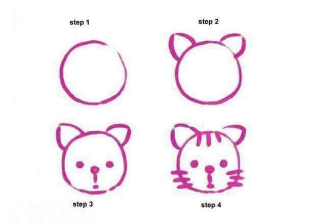 Easy drawing for kids to build their drawing skills Drawing of another tiger with some additional features