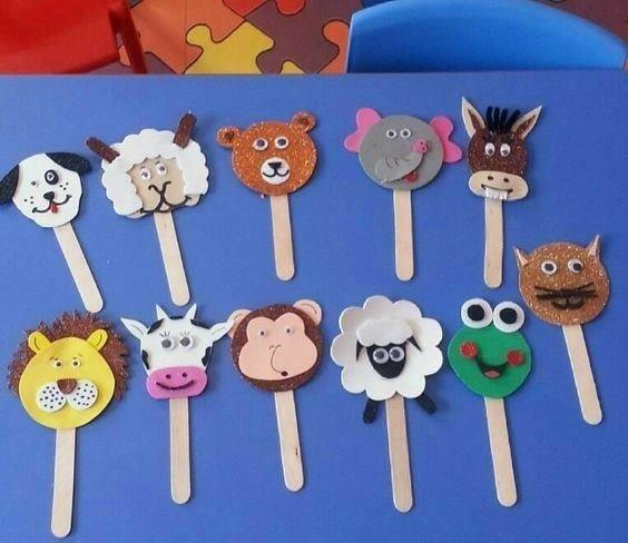 DIY Popsicle Stick Craft Ideas for Kids Animal Head Bookmark