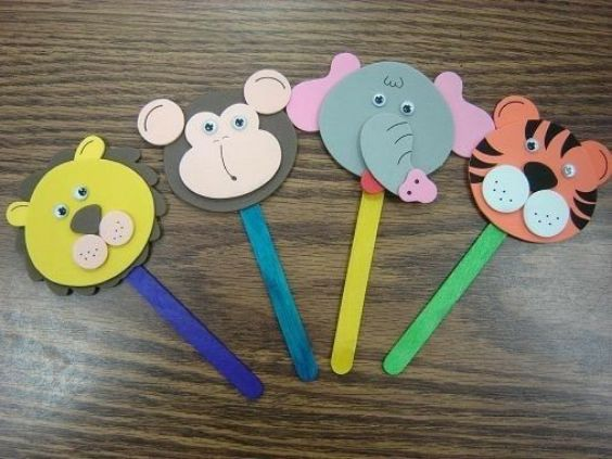 DIY Popsicle Stick Craft Ideas for Kids Popsicle Animal Heads