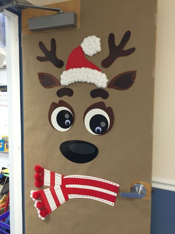 Christmas Classroom Door Decoration Ideas Using Paper Bag Material For Crafting A Door