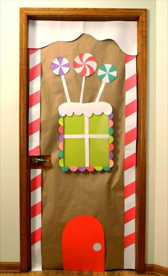 Toffee Theme Decoration of Door For Primary Schools