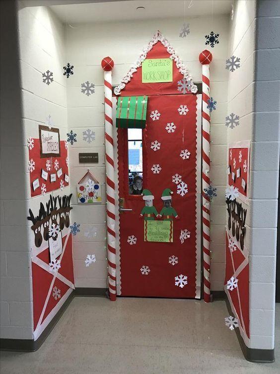 Vibing Christmas Colour For Door Decoration