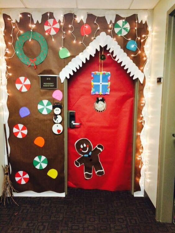An Attractive Christmas Welcome Door