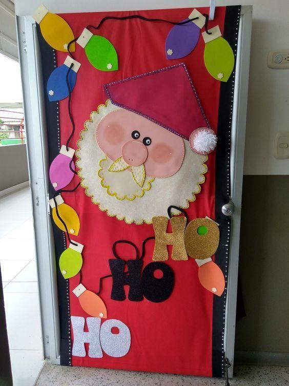 Santa Claus Door From Chart Paper