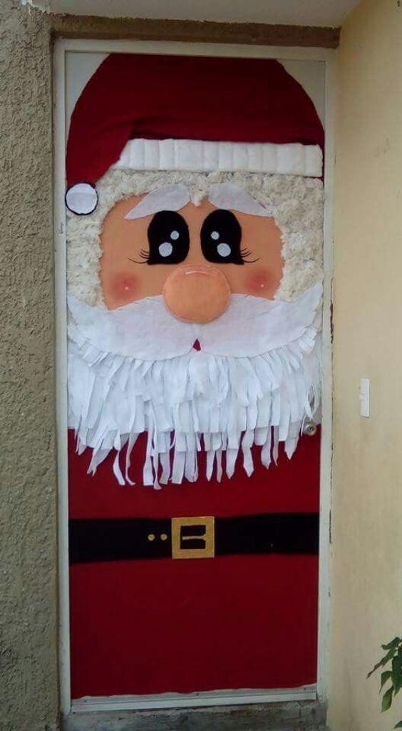 An Adorable Santa Claus Door