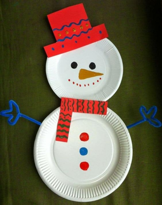 Easy Christmas Crafts for Kids Snowman