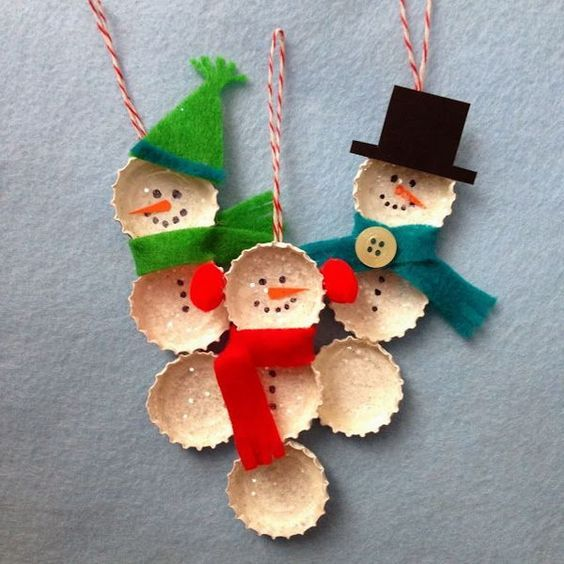 Easy Christmas Crafts for Kids Caps And Caps