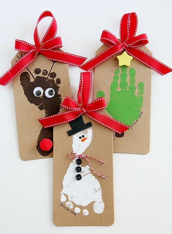 Footprint Fun: Christmas Crafts for Kids Gift Wrap