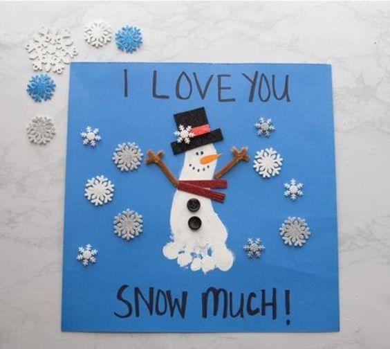 Footprint Fun: Christmas Crafts for Kids Fun And Pun