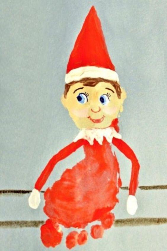 Footprint Fun: Christmas Crafts for Kids Santa Footprint Craft