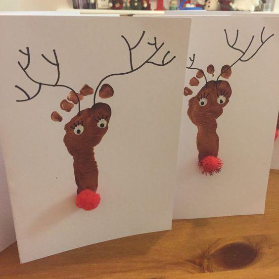 Footprint Fun: Christmas Crafts for Kids Rudolf Rudolf