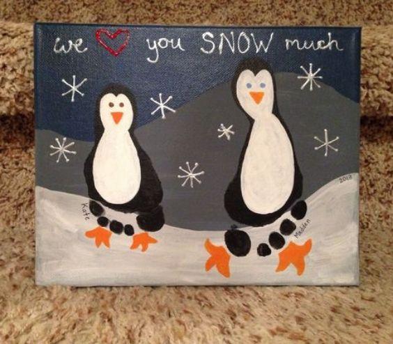 Penguins Footprint Fun: Christmas Crafts for Kids Fun And Pun