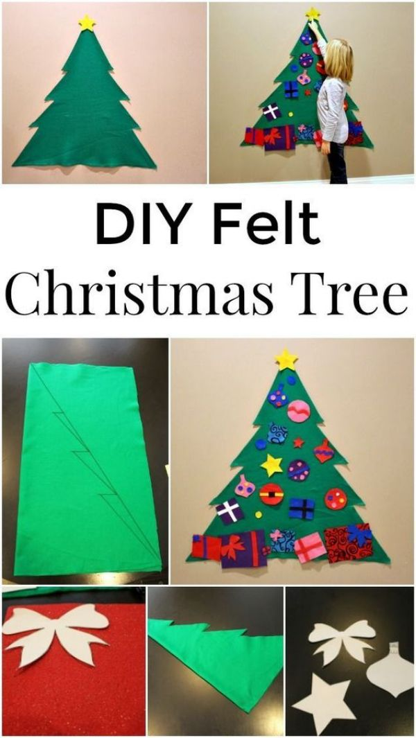 Merry Christmas!-Christmas Tree Crafts for Kids Felt Christmas Tree