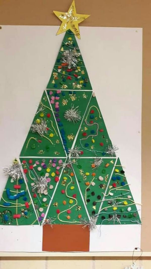 Stick-on Cardboard Christmas Tree