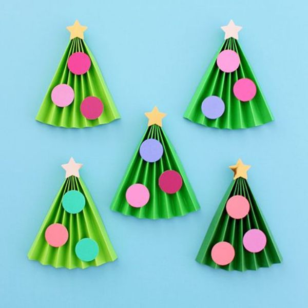 Merry Christmas!-Christmas Tree Crafts for Kids Paper Christmas Trees