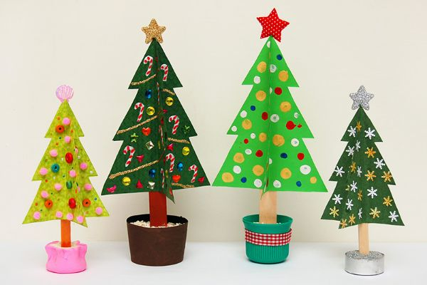 Merry Christmas!-Christmas Tree Crafts for Kids Cardboard Christmas Tree