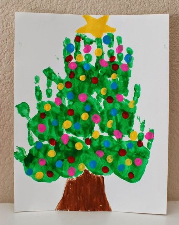 Merry Christmas!-Christmas Tree Crafts for Kids Christmas Tree Hand Painting