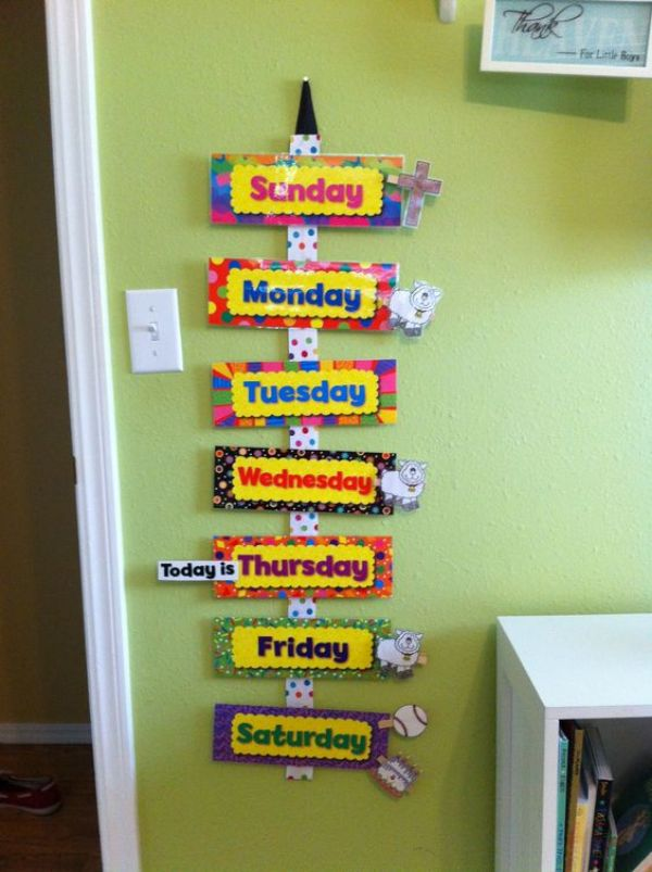 Classroom Decor Paper Craft Ideas for Kids Week Calendar