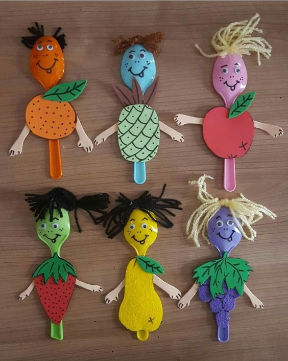 Creative and Amazing Plastic Spoon Craft Ideas Fruits and Vegetables on Plastic Spoons
