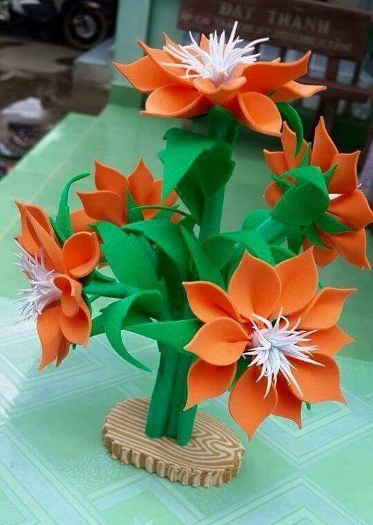 DIY Foam Sheet Flowers Craft Ideas Fresh Blossom