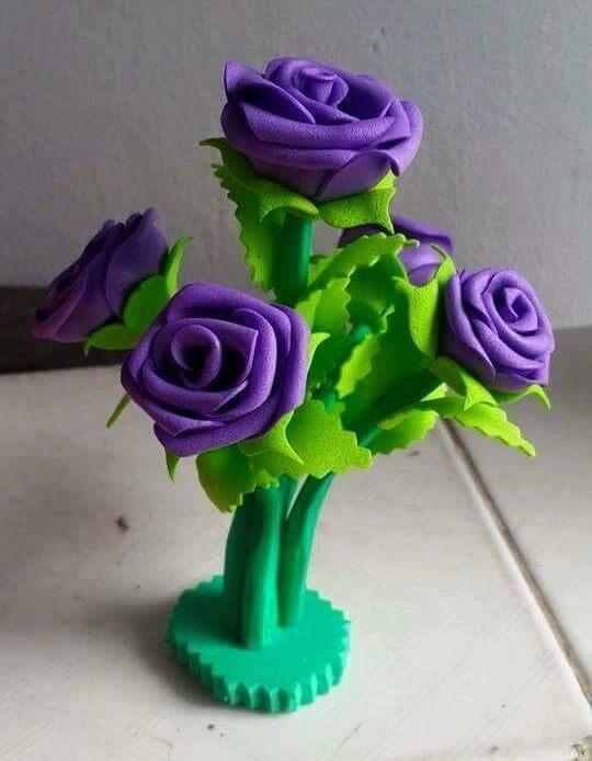 DIY Foam Sheet Flowers Craft Ideas Surreal Lavender