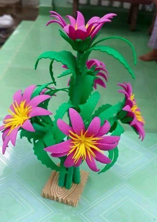 DIY Foam Sheet Flowers Craft Ideas Blush Blossom